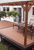 synthetic wood decks and patios